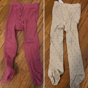 Zara Baby Girls lot 2 knit tights